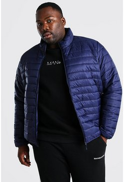 Chaqueta plegable MAN con bolsa Big And Tall, Azul marino