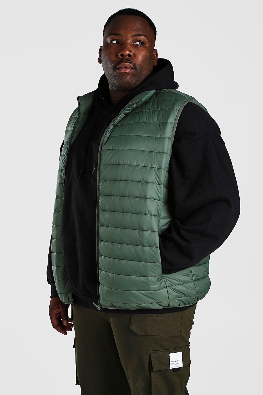 SALE Plus Size MAN Foldaway Gilet With Bag