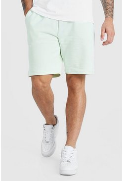 Mint green 3D MAN Signature Embroidered Short