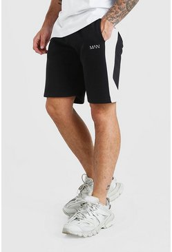 Black Original Man Mid Length Short With Side Panel
