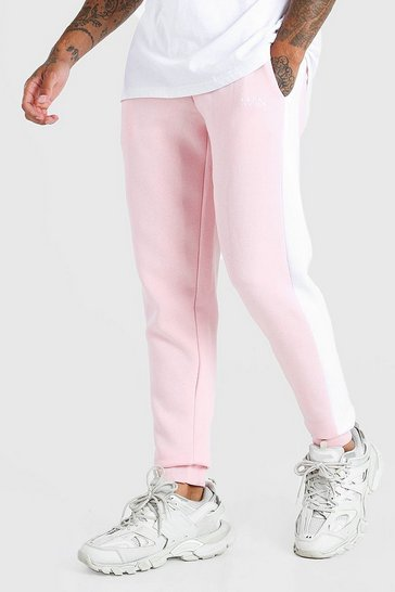 Pale pink pink Original Man Skinny Fit Jogger With Side Panel