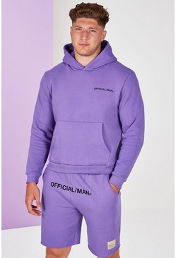 Lilac purple Plus Size Man Official Pastel Hoodie