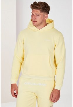 Yellow Plus Size MAN Official Pastel Hoodie