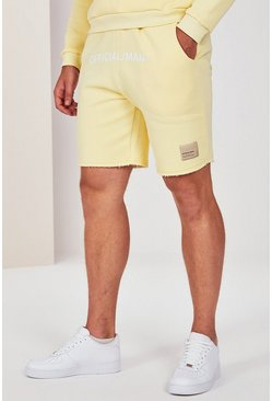 Yellow gul Big And Tall Pastel Jersey Short