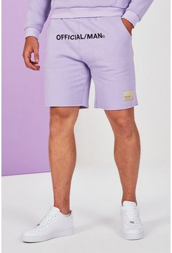 Lilac grey grey Big And Tall Pastel Jersey Short