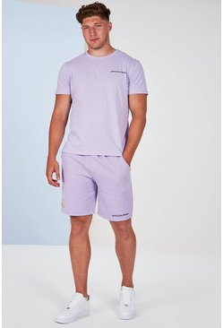 Lilac grey grey Plus Size Man Official T-Shirt Set
