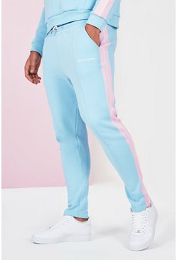 Blue Big And Tall Side Tape Jogger