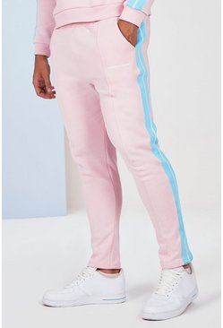 Pink Plus Size Side Tape Jogger