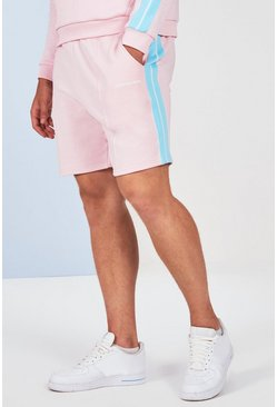 Pink Plus Size Side Tape Short