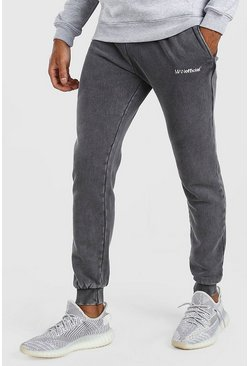 Charcoal MAN Official Skinny Fit Acid Wash Jogger