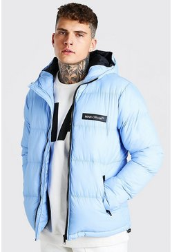 Light blue blue MAN Branded Hand Filled Puffer