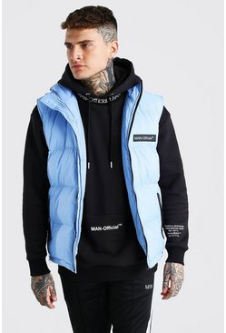 Light blue blue MAN Branded Padded Gilet