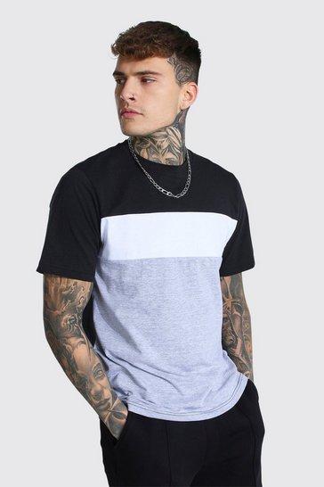 White Colour Block T-shirt