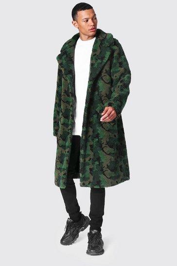 Tall Camo Borg Longline Jacket