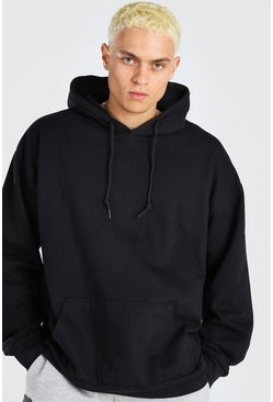 Black Fleece Oversized Over The Head Hoodie