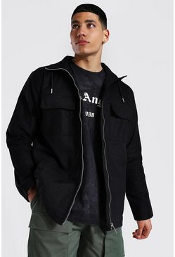 Twill Field Jacket, Black negro
