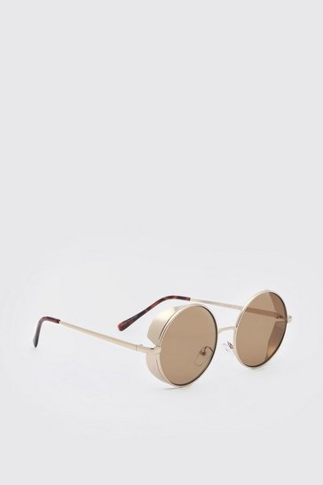 Gold metallic Deep Frame Sunglasses