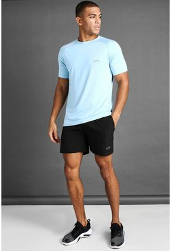 Blue blå MAN Active T-Shirt And Short Set