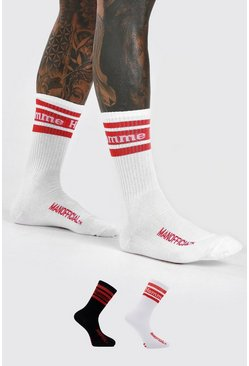 Multi 2 Pack Homme Socks