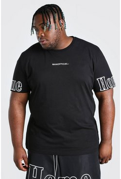 Black Big And Tall Oversized Homme Sleeve T-Shirt