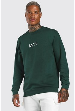 Green Original MAN Print Sweatshirt
