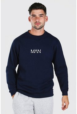 Navy Original MAN Print Sweatshirt