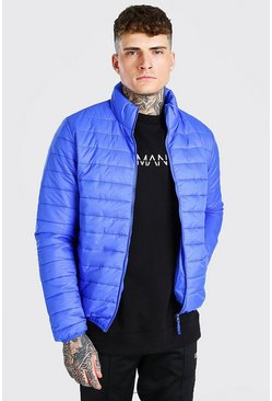 Cobalt blue Foldaway Padded Jacket With Bag