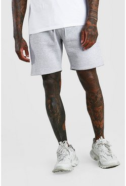 Short Man mi-long en jersey signature, Gris