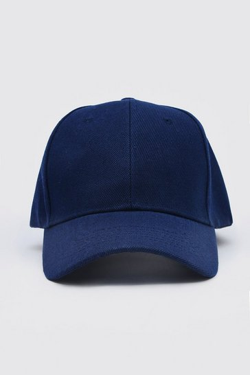 Navy Curve Peak Cap