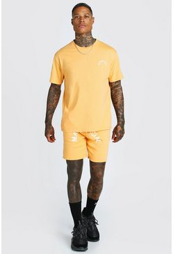 Orange MAN Official SS20 T-shirt och shorts med tryck