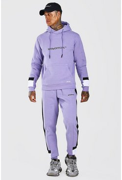 Purple Man Official Colour Block Tracksuit