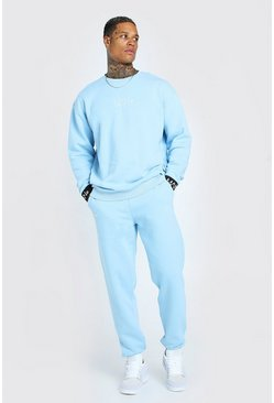 Light blue blue Man Elasticated Cuff Sweater Tracksuit