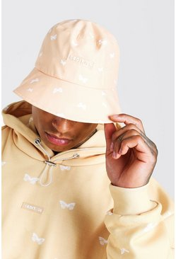 Orange Man All Over Printed Butterfly Bucket Hat