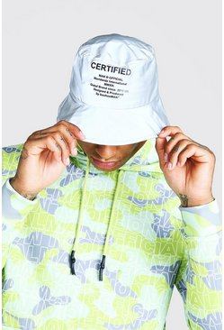 Man Official Silver Reflective Bucket Hat