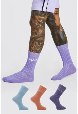 Pack de 3 pares de calcetines Man Original, Multicolor