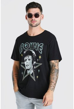 Black Oversized Bowie Starman License T-Shirt