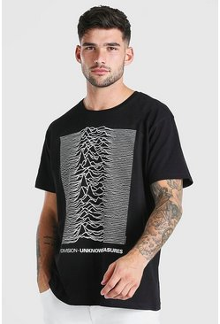 Black Oversized Joy Division License T-Shirt