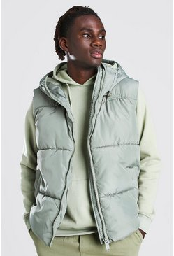 Mint green Hooded Toggle Detail Gilet