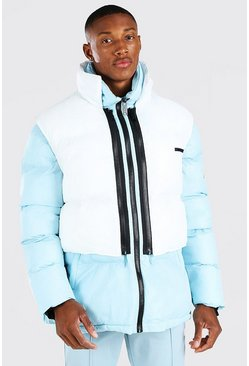Light blue blue 2 In 1 Puffer (With Removable Gilet)