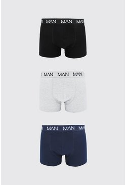 Multi 3 Pack MAN Dash Mid Length Trunk