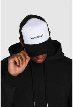 Black MAN Official 2 Colour Trucker Cap