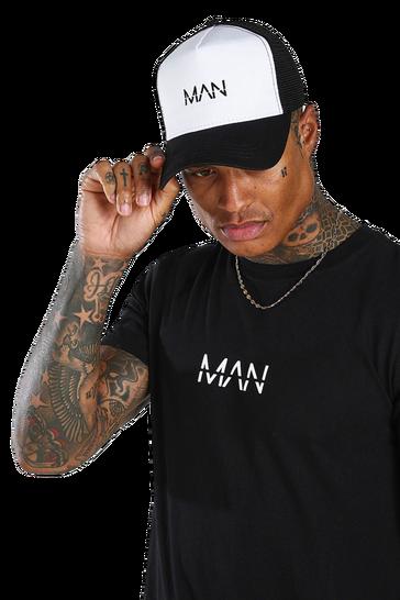 Black MAN Dash 2 Colour Trucker Cap