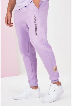 Lilac grey grey Plus Size Official Man Jogger