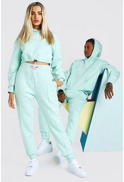 Mint ABODE Hers Cropped Tracksuit With Woven Tab