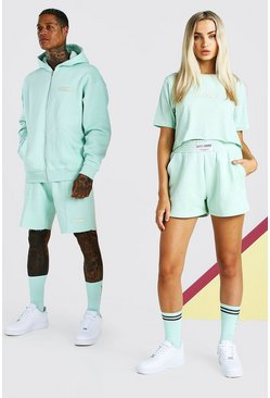 Mint ABODE Hers Cropped Tee & Short Set