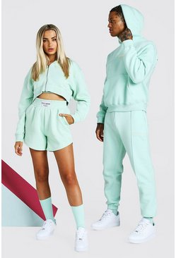 Mint ABODE Hers 3 Piece Cropped Hoodie & Short Set