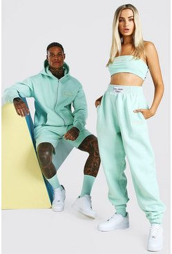 Mint ABODE Hers Bandeau & Jogger Set With Woven Tab