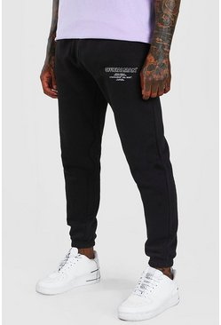 Black Official MAN Regular Fit Jogger With Leg Print