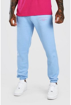 Bright blue blue Official Man Regular Fit Leg Print Jogger