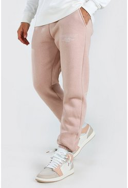 Pale pink pink Official MAN Regular Fit Jogger With Leg Print